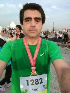 Al final de la carrera de 10K