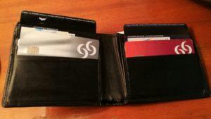 cartera con tarjetas