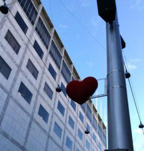 corazón y edificio
