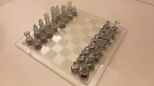 ajedrez de cristal.