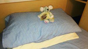 ratón en almohada