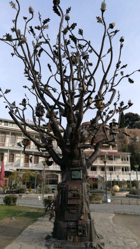 Árbol con frutos raros
